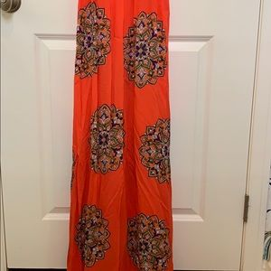 Anthropologie Dresses - Anthropologie maxi dress removable strap size S